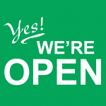 Yes! We're open.